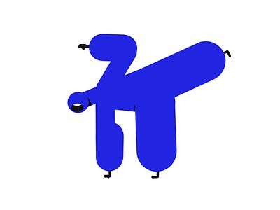 Gamba Mascot vector graphic design graphic design doodle dancing walkcycle illustration hero pose hero character design