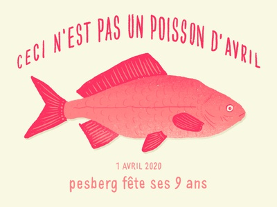 Ceci n est pas un poisson d'avril digital illustration digital painting procreate birthday fish illustration