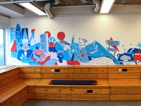 Stards-and-stripes mural for DigiB Brenntag