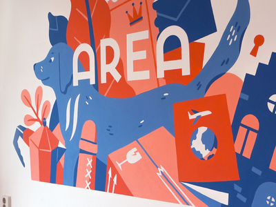 Area Mural in Amsterdam amsterdam lettering logo typography muurschildering drawing painting wallpainting mural