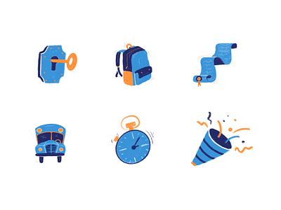Set of icons icon set desktop pelostudio ui interface dribbble product identity design ipad cards ui illustration procreate drawing icon icons cards