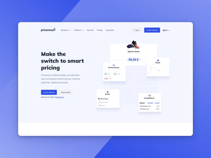 Pricemoov's new website webdesign smart online home homepage website pricemoov pricing price popular pelostudio dribbble identity interface uidesign design ui