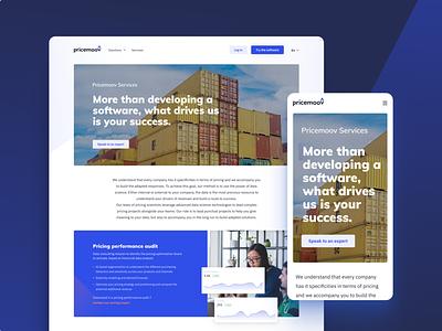 Pricemoov's services page landing webdesign service services pricing pricemoov website branding pelostudio dribbble product uidesign interface design ui