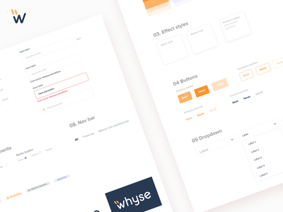 Whyse user inteface identity dribbble uidesign desktop interface sketch product direction artistique input input field button uikit ui design design system