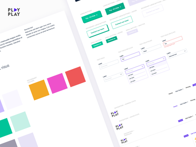 PlayPlay pelostudio design typography branding input field design system product colors button input ui uikit direction artistique interface uidesign idenity user interface