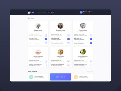 Elevo's product elevo pelostudio team people profile card cards dribbble desktop uidesign sketch interface design ui product