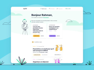 Fifty's new challenge page to do to do list product design challenge challenges card cards colorful illustrations popular illustration branding pelostudio dribbble identity uidesign product interface design ui