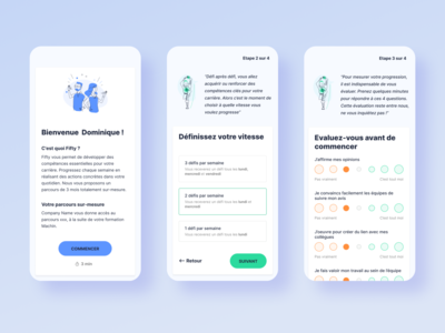 Fifty's App ui  ux step by step onboarding app design app application illustration pelostudio dribbble identity product uidesign interface design ui