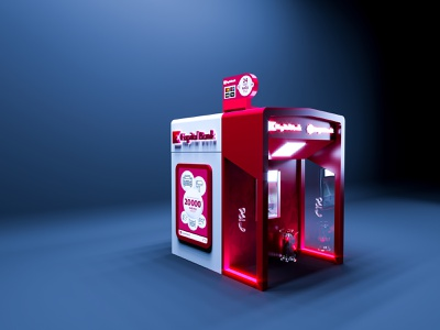 ATM Kiosk 3d realistic render for Kapital Bank OJSC design stand typography logo corporate branding corporate industry illustration render graphic branding realistic exhibition 3d background company promotional promotion banking