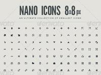Nano icons 8x8 px