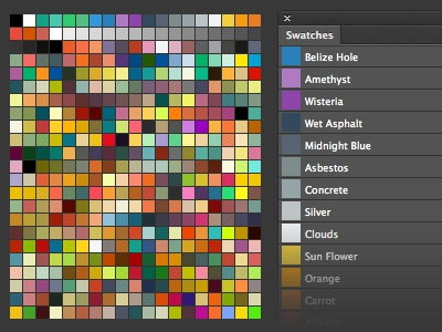 Photoshop Swatches Library for Flat UI Design photoshop aco swatch swatches library set flat ui design gui interface color colors scheme
