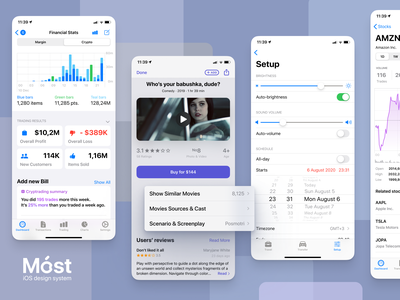 Móst iOS Design System kit code display screen ios13 interface graphic apple control button complete most figma system design ux ui mobile iphone ios