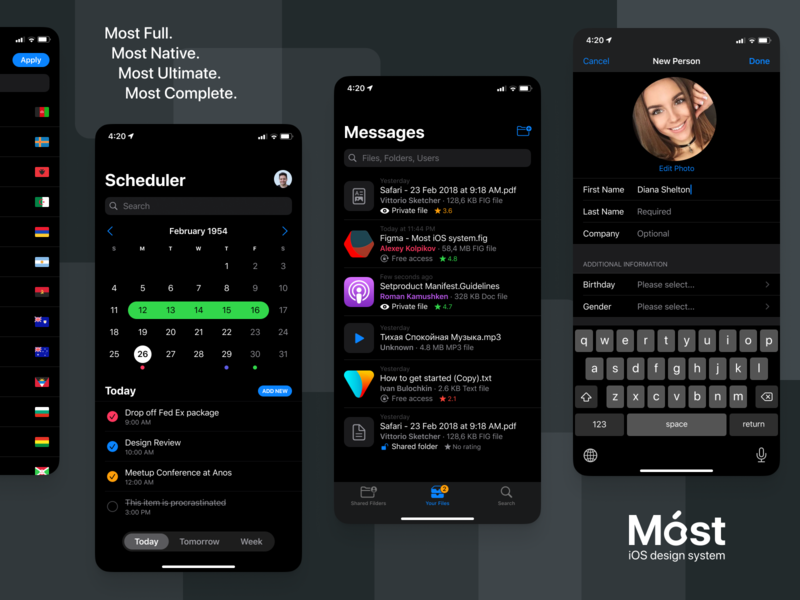 Móst iOS Design System 02 system design uidesign native ultimate light dark iphone button mobile interface ux system design figma ios full most set ui kit