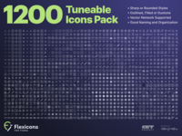 Flexicons for Figma 1.2: 1200 icons flexicons outlined filled sharp toolbar android ios glyph tune kit set pack design vector icons figma icon pack icon set icon flexible