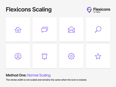 Flexicons Scaling fill outline stroke transform vector scale icons ux ui material design android ios set kit figma icon