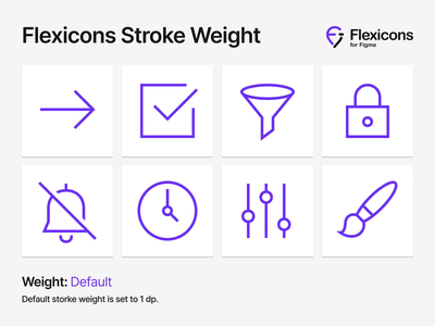 Flexicons Stroke Weight interface graphic fill outline stroke mobile android ios design ux ui vector figma set kit icons icon