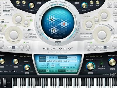 Hexatoniq UI layered PSD ui gui interface psd photoshop audio knob slider sound keyboard plugin vst