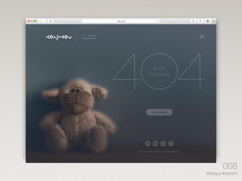 Daily UI: #008 Page 404 ux user ui sketchapp sketch 404 web landing dailyui challenge 008