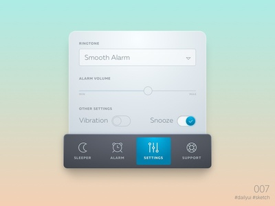 Daily UI: #007 Settings