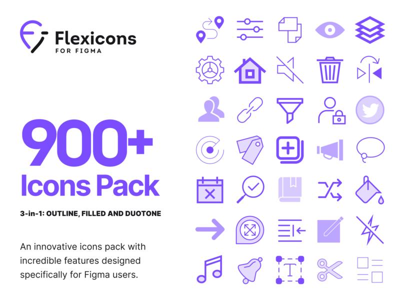 Flexicons for Figma web design illustration print web desktop mobile ios adnroid interface vector graphics pack set kit figma design ux ui icons icon