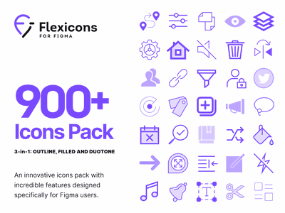 Flexicons for Figma web design illustration print web desktop mobile ios adnroid interface vector graphics pack set kit figma design ux ui icons icon