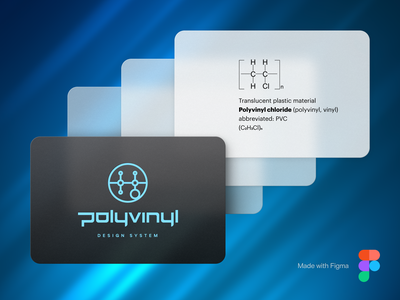 Polyvinyl Design System Translucent Surfaces Sample shadow glass realistic flat blue light dark material figma interface ux ui design system popup window translucent transparency mate plastic polyvinyl