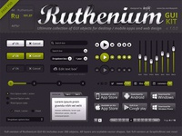 Ruthenium GUI Kit FREE PSD!