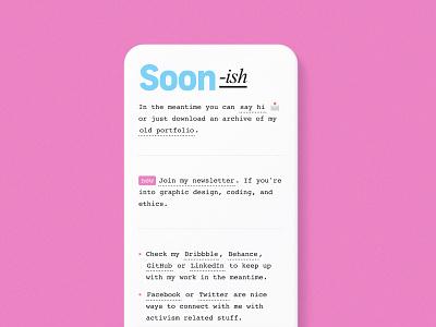 Personal portfolio, soon. -ish. typography ui