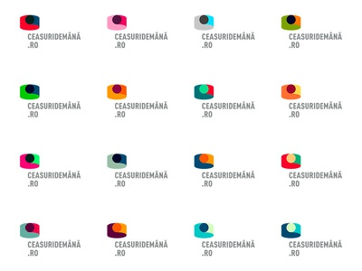 (old work) Identity for a watch portal colours generative watch identity