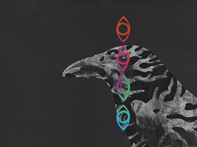"""Don't be seen"" music art album colour illustration eyes crow"