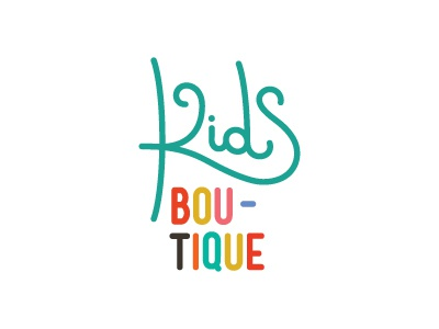 Logo for Kids Boutique kids boutique logo line type typography letter lettering turquoise