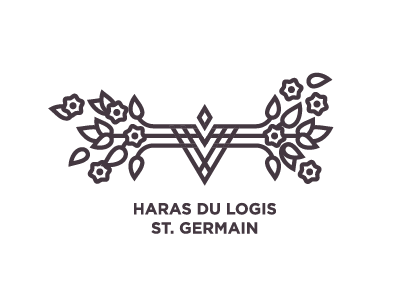 Racehorse lodge horse race lodge haras logis germain saint logo v roses branch leaf