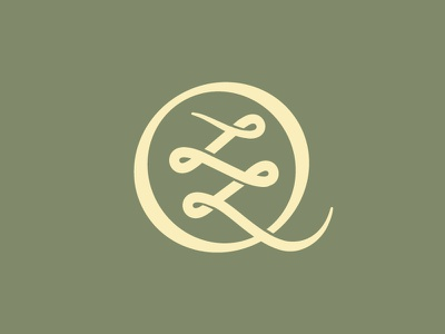 Q q letter type typography font equity stocks market wall street knot woven l