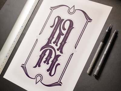 MH - Icon lettering type typography illustration handlettering vector logo personal hand lettering black and white