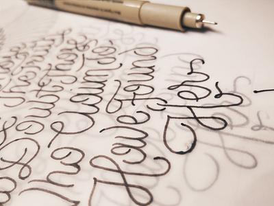 Trust Those - Tracing detail handlettering lettering sketch illustration micron fineliner detail