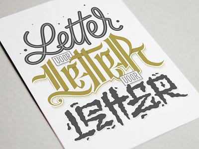 Letter voor Letter voor Letter graphic design vector lettering krook handlettering card monoline calligraphy brushpen brush