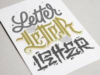 Letter voor Letter voor Letter