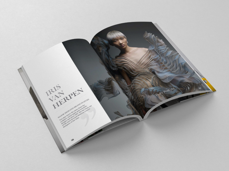 IRIS VAN HERPEN - EDITORIAL body text typography type picture image colour composition layout design editorial