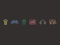 Bicycle App Icons Set