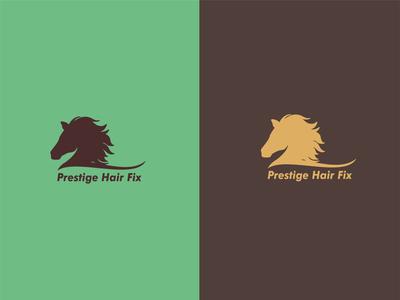 Logo Design - Prestige Hair Fix men hair products company naming logo design graphic design logo branding minimal illustration colors vector design illustrator