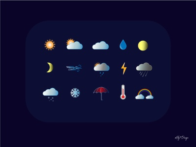 Weather Icons vectors graphic design vector weather icons icons design iconset illustrator