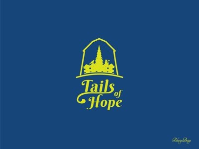 Tails of Hope Logo - version1 typography colors logo graphic design illustration vector illustrator