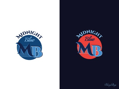 Midnight Blue Logo branding logo graphic design colors design vector illustrator