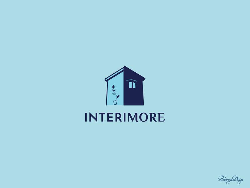 Interimore logo design logo design branding logo graphic design illustration design vector illustrator