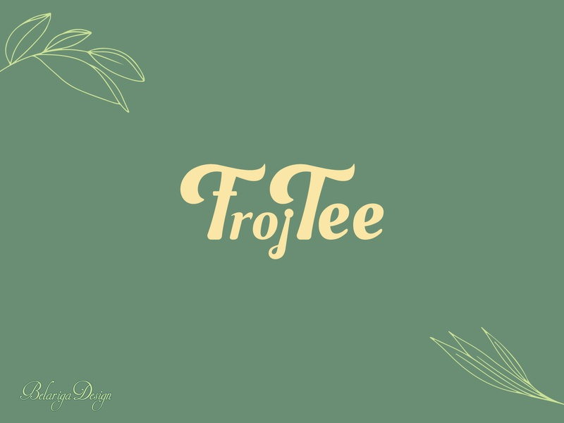 Frojtee logo design tea logo design design graphic design branding logo typography vector illustrator