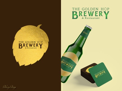 Logo design -  Brewery dribble photoshop brewery logo brewery gold logo designer logo design design inspiration freelance freelance designer branding design weekly warm-up typography branding graphic design minimal colors vector design illustrator