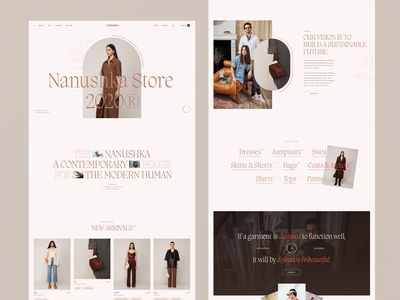 Nanushka Store homepage grid typogaphy fashion interaction minimal ui