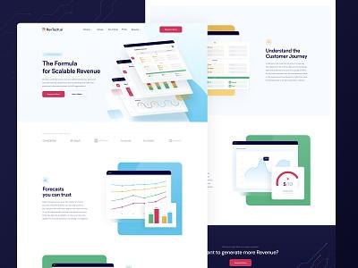 RevTech - Homepage finance revenue services homepage website app branding logo product design dashboard saas b2b ux ui