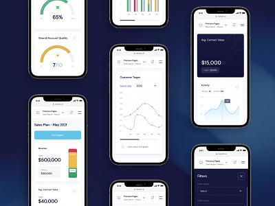 RevTech App Mobile responsive users price plan statistic stat revenue finance app mobile logo ux design interaction minimal ui