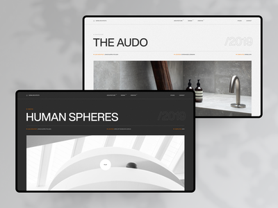 Norm Architects Project Page grid website menu category danish swiss furniture player inner project architecture logo branding interaction minimal ux ui